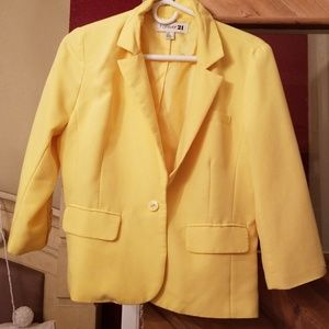 Forever 21 yellow blazer